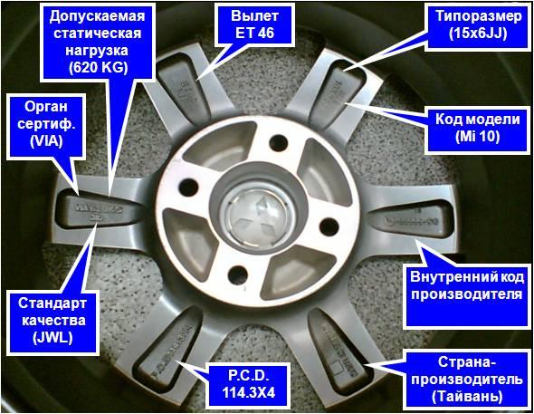 маркировка автомобильных шин №6