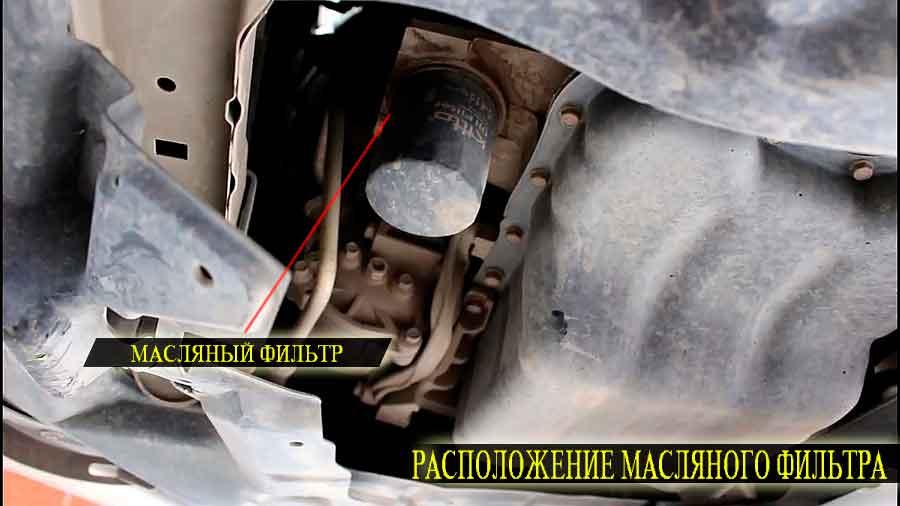 Расположение масляного фильтра под днищем автомобиля митсубиси asx
