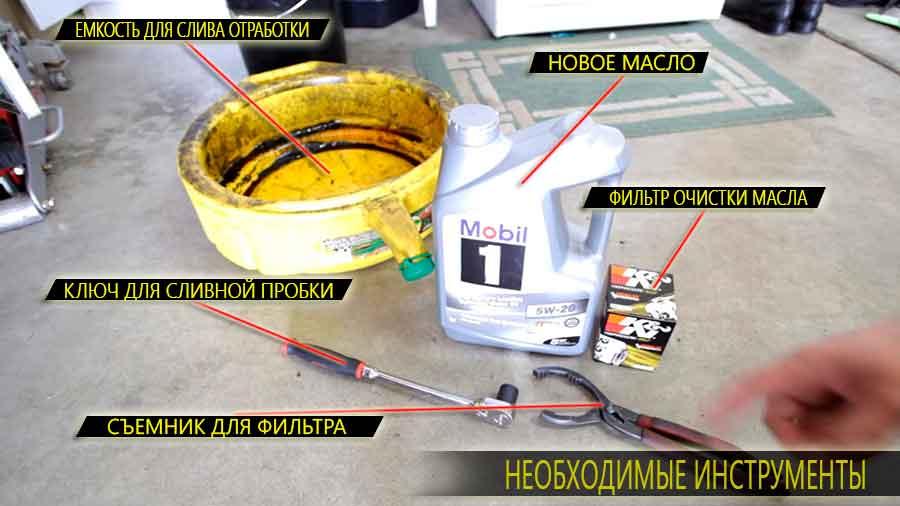 Необходимые инструменты и расходный материал для обслуживания Аккорд 7