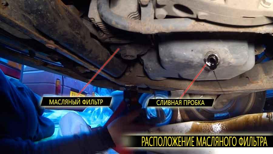 Расположение масляного фильтра на Ford Mondeo MK3