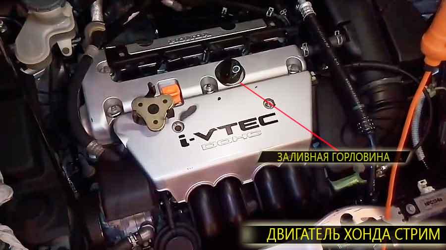 Расположение масляного фильтра, заливной горловины и контрольного щупа уровня масла на двигателе Опель Астра h