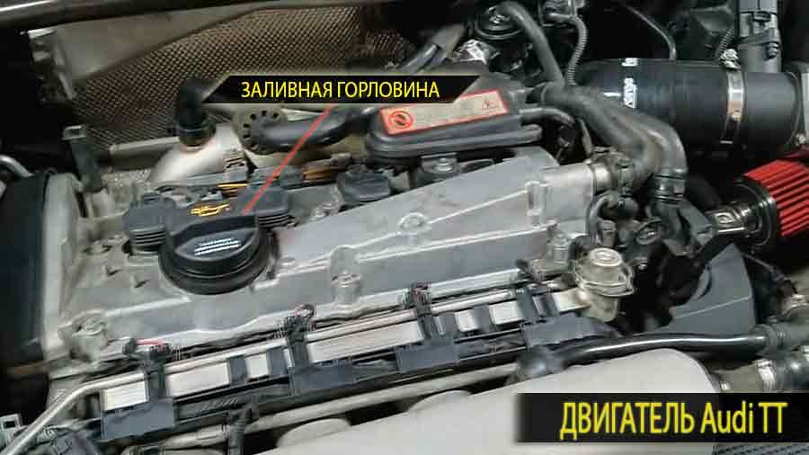 Так выглядит двигатель Ауди ТТ