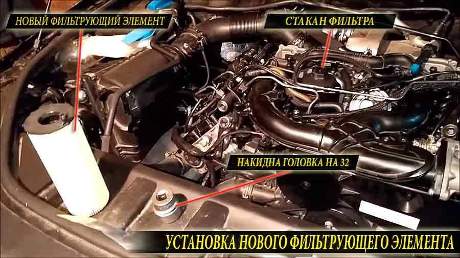 Новый масляный фильтр а точнее фильтрующий элемент для Audi Q7