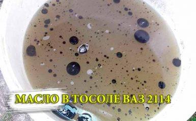 Масло в тосоле ВАЗ 2114
